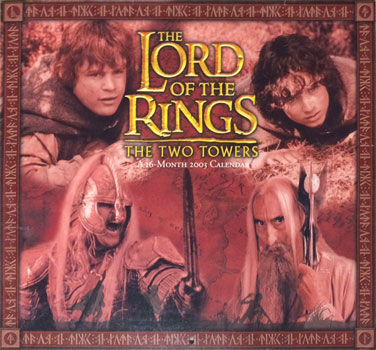The Lord of the Rings 16-Month 2003 Calendar